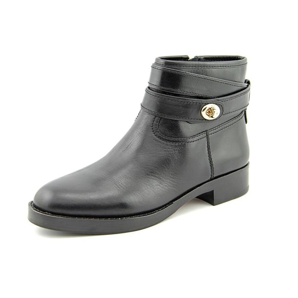 Coach Shoes - Coach Elton Leather Turnlock Booties